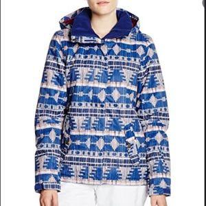 ROXY jetty hooded jacket - akita print/blue print